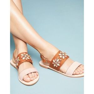 Anthropologie Awakening Embellished Sandals Size 8